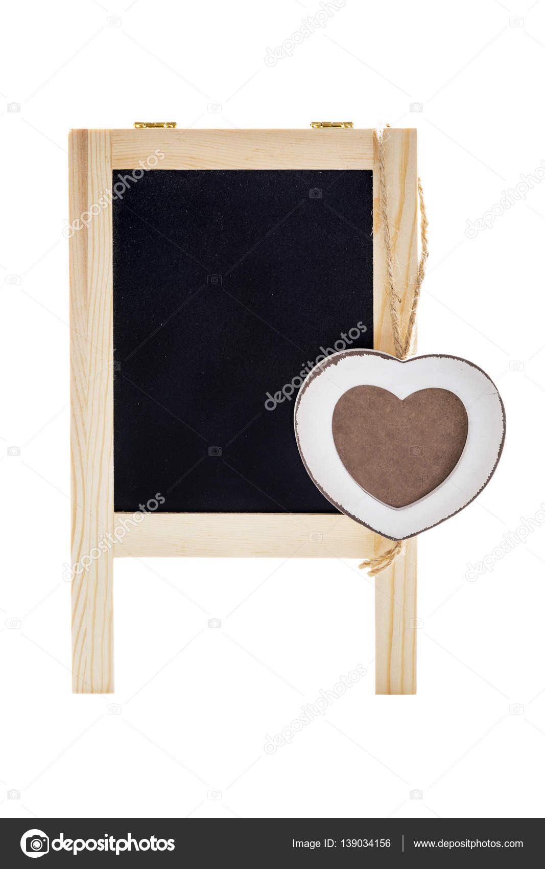 Herz-Rahmen mit Tafel — Stockfoto © fotoyou #139034156