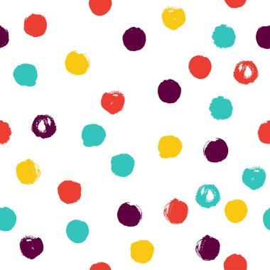 colorful dots seamless background