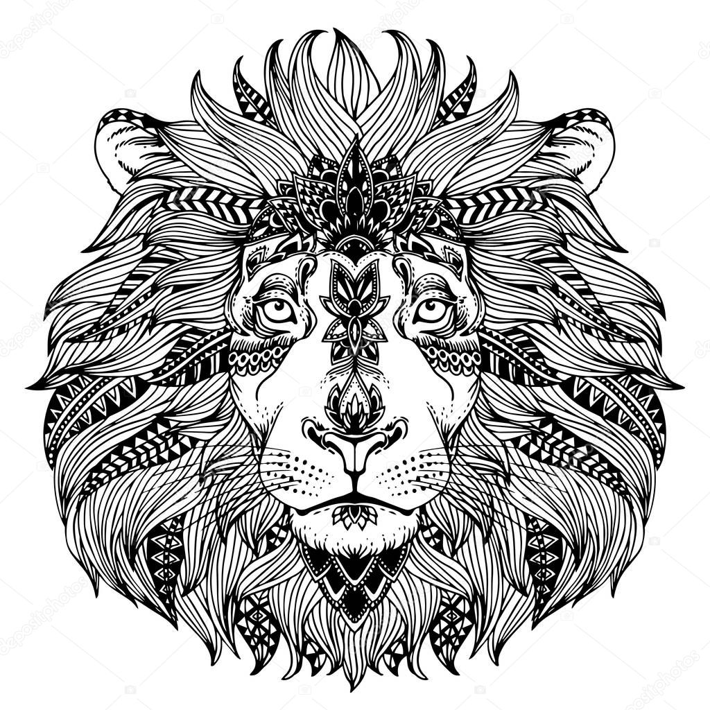 Zentangle Animal Head Stock Vector 169 Mazeina 129335038