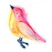 barevný pták sedící na větvi