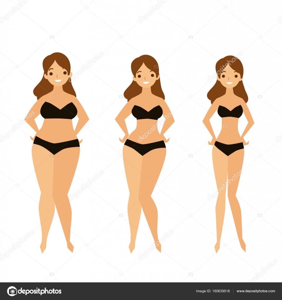 Übergewicht Mädchen in Bikinis