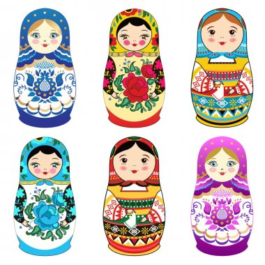 Matrioshka with smiling face