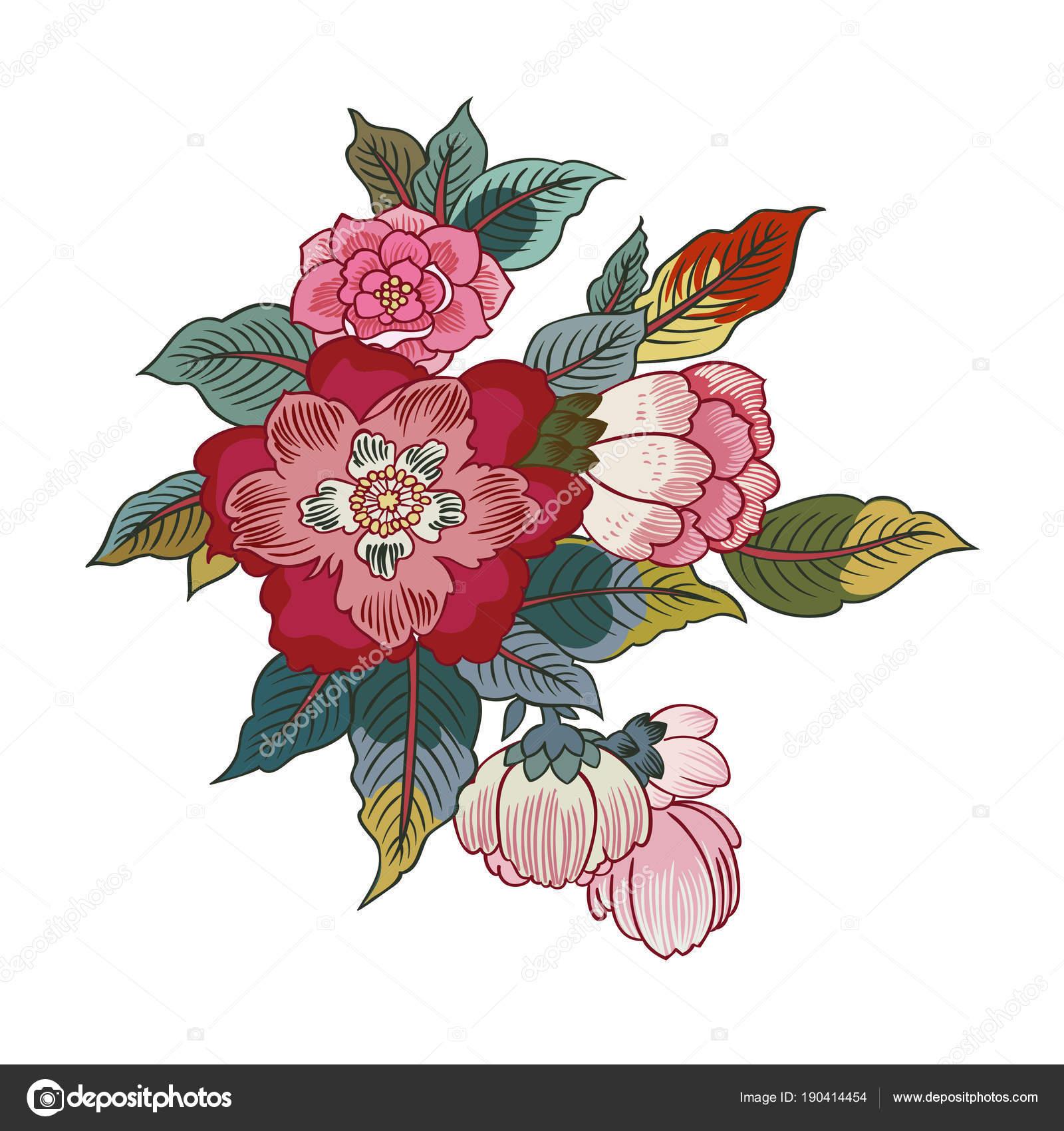 Disegni Fiori.Disegni Fiori Esotici Disegno Illustrazione Vettoriale Fiori