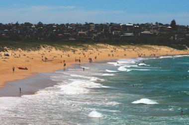 A view of Curl Curl Beach on Sydney's north side