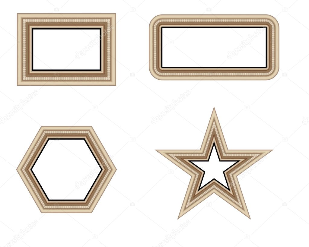 Picture photo frames vector luxury vintage design in different ...