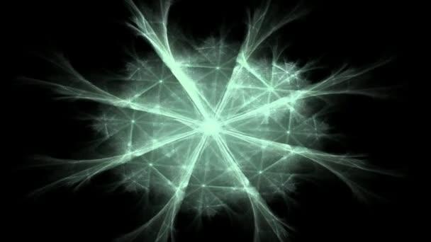 fraktální radiální obrazec na téma věda, technika a design