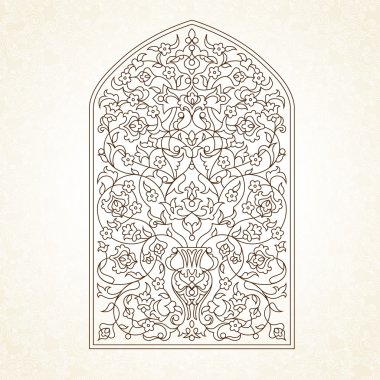 Ornate illustration in Eastern style