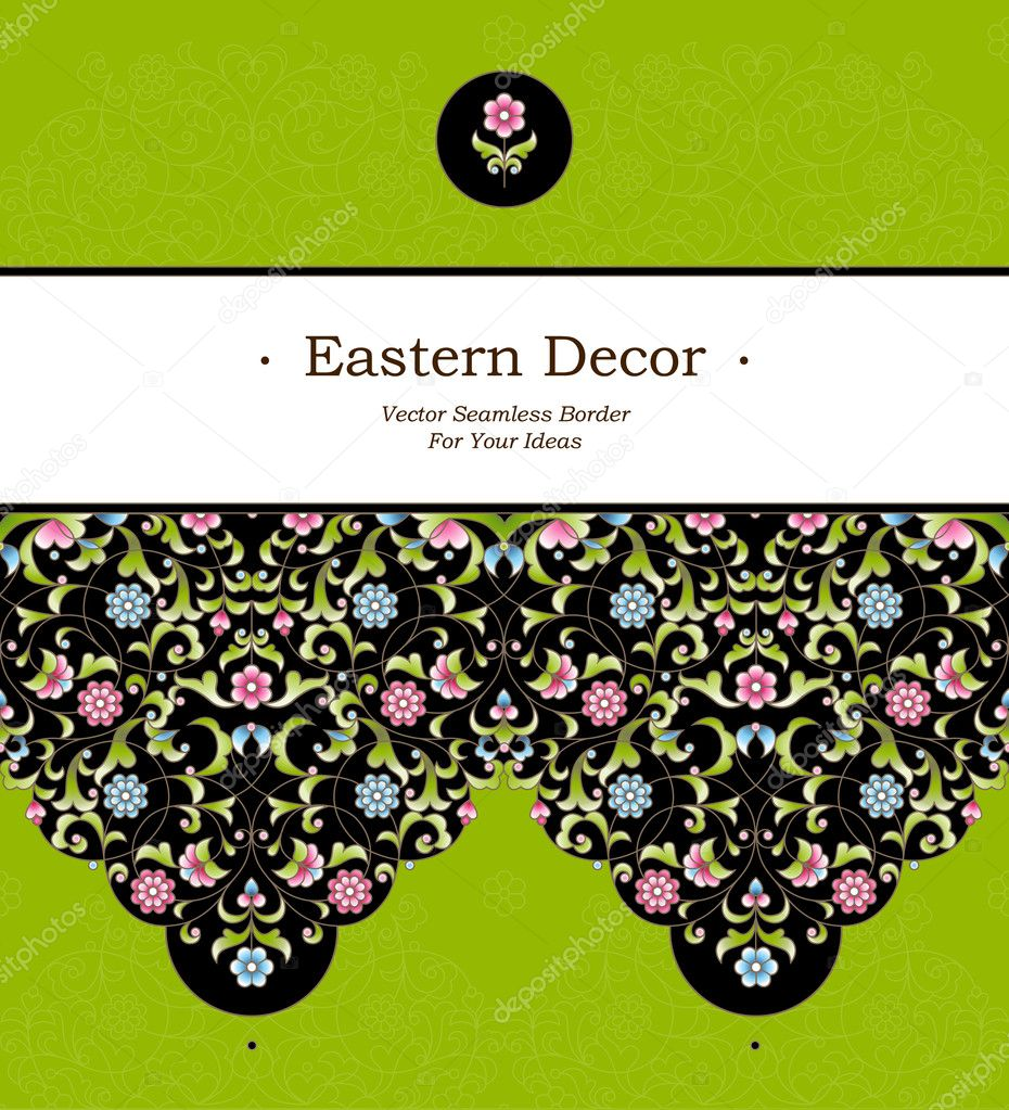 Seamless border in Eastern style
