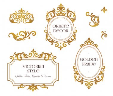 golden frames in Victorian style
