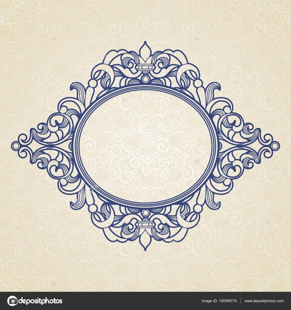 Filigree frame in Victorian style — Stock Vector © AnnaPoguliaeva ...