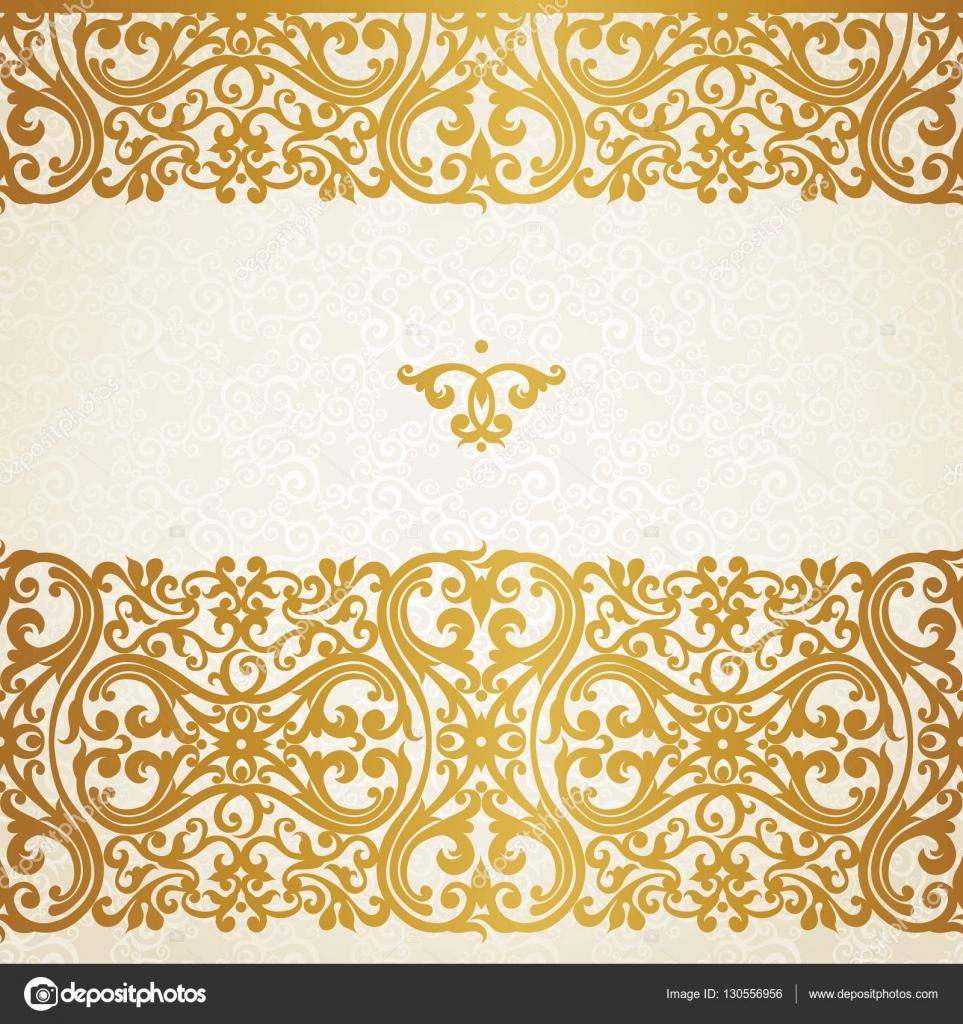 borda dourada em estilo vitoriano  u2014 vetores de stock