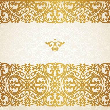 golden border in Victorian style