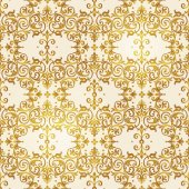 Seamless pattern with floral ornament.