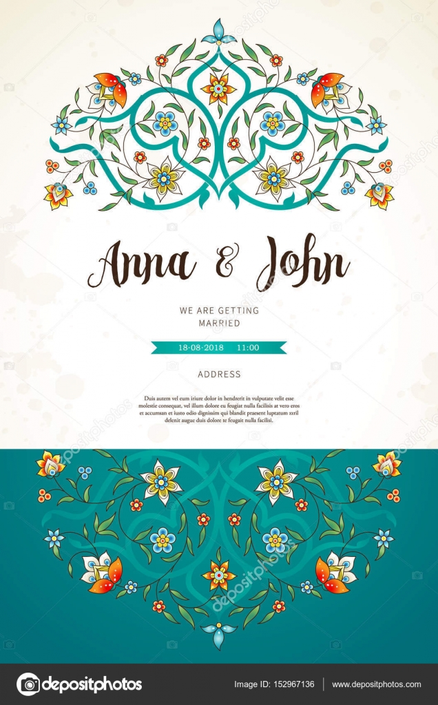 Vintage wedding invitation template stock vector annapoguliaeva vintage wedding invitation template stock vector stopboris Image collections
