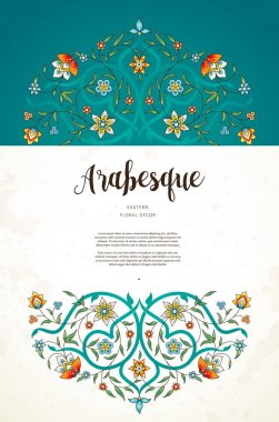 ornate floral card template