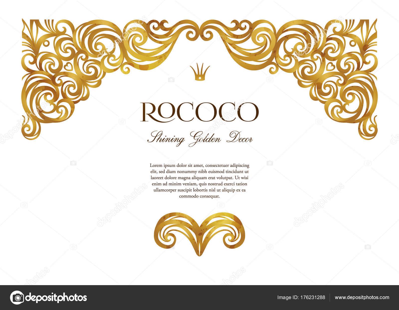 vector vintage decor ornate floral vignette design template