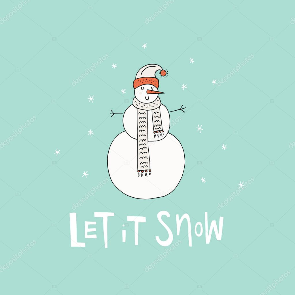 Snowman for Christmas Design