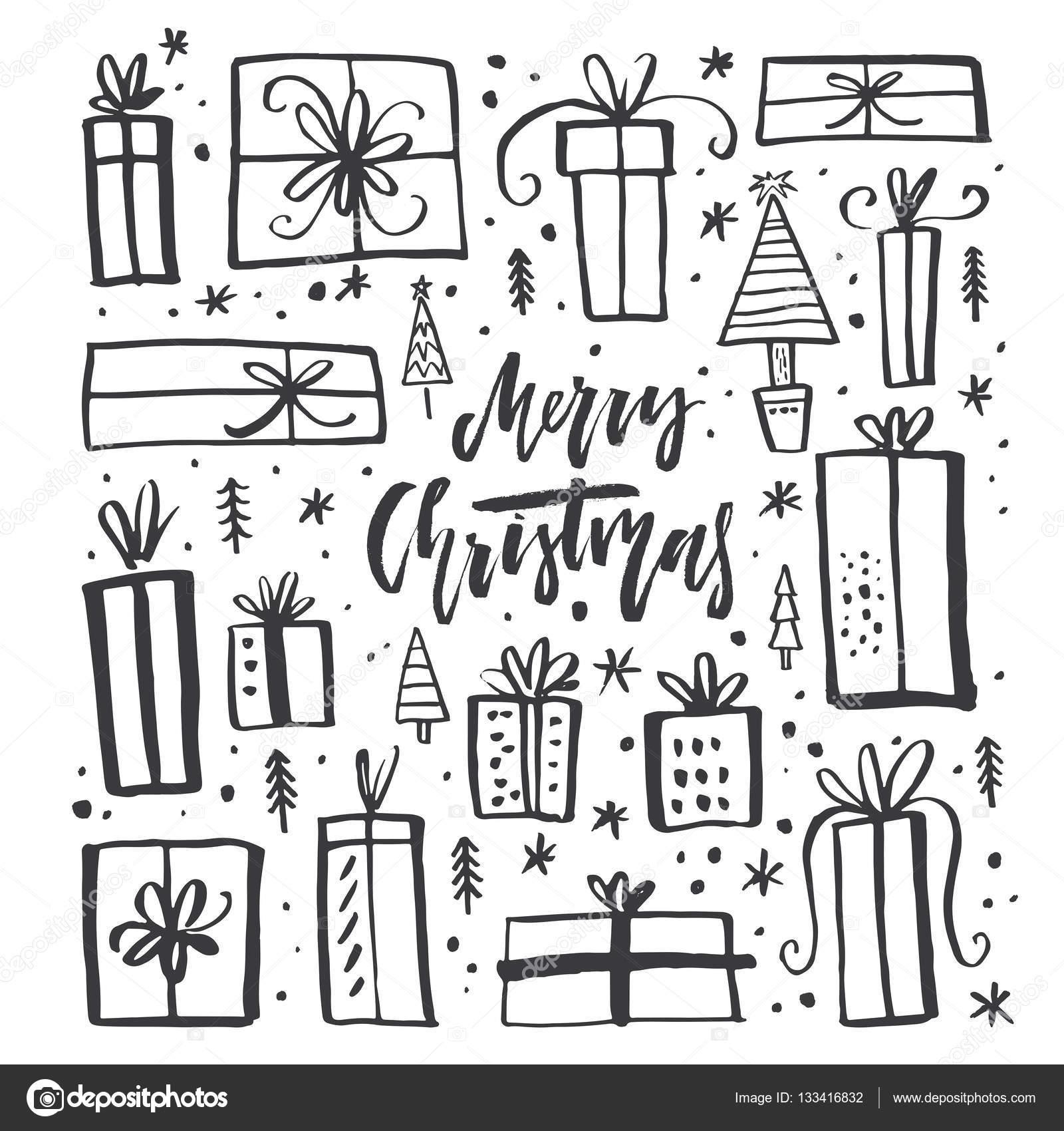 Weihnachtskarten Clipart.Weihnachten Geschenke Clipart Stockvektor Favetelinguis199