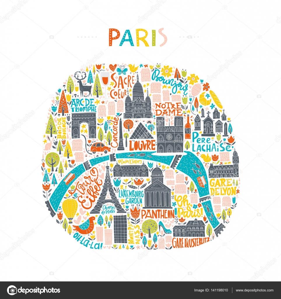 Nhk出版旅するフランス語パリの地図イラストを描かせていただきまし