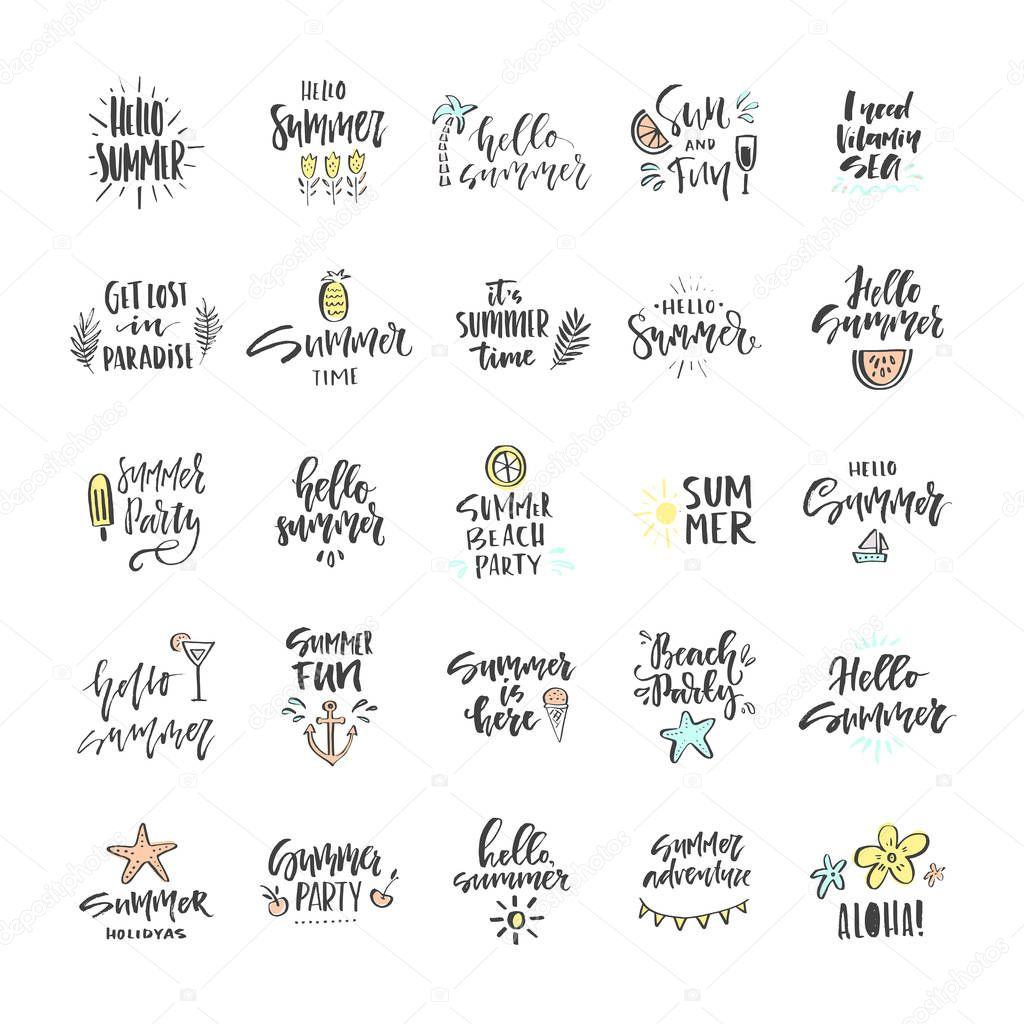 Summer Lettering Signs