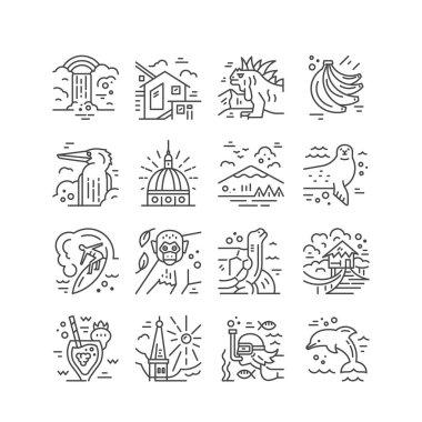 Ecuador symbols in vector