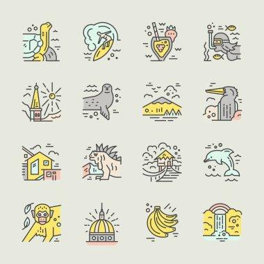 Ecuador symbols Vector