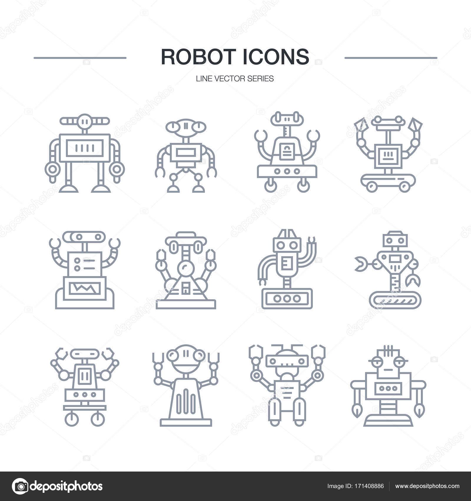 ładny Wiersz Robot Grafika Wektorowa Favetelinguis199