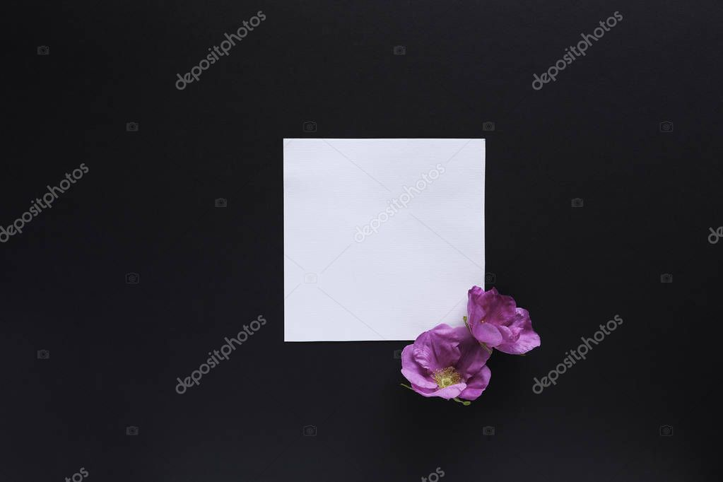 Mockup with flowers