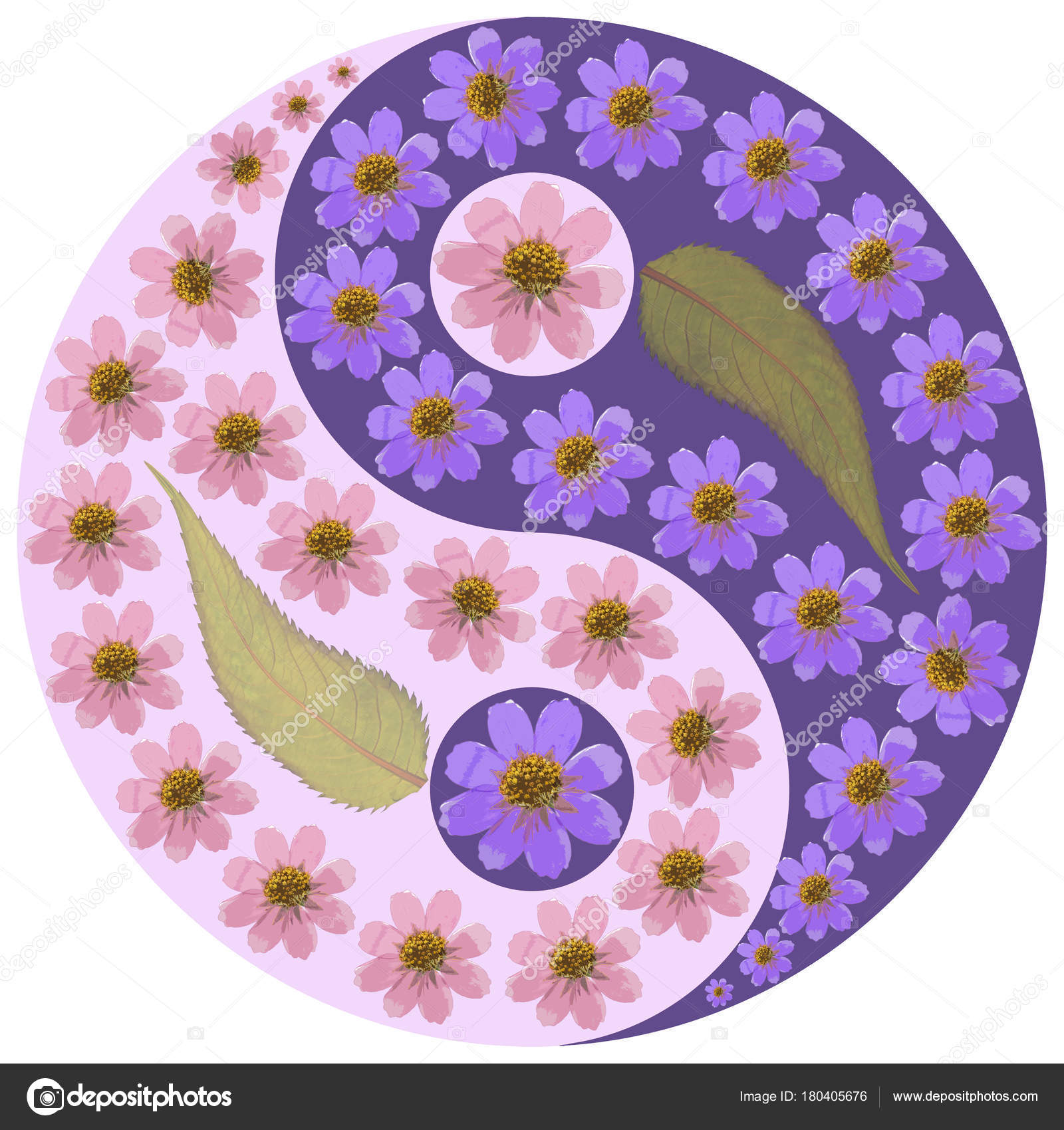 Remarkable Floral Yin Yang Symbol Stock Photo C Svrid79 180405676 Caraccident5 Cool Chair Designs And Ideas Caraccident5Info
