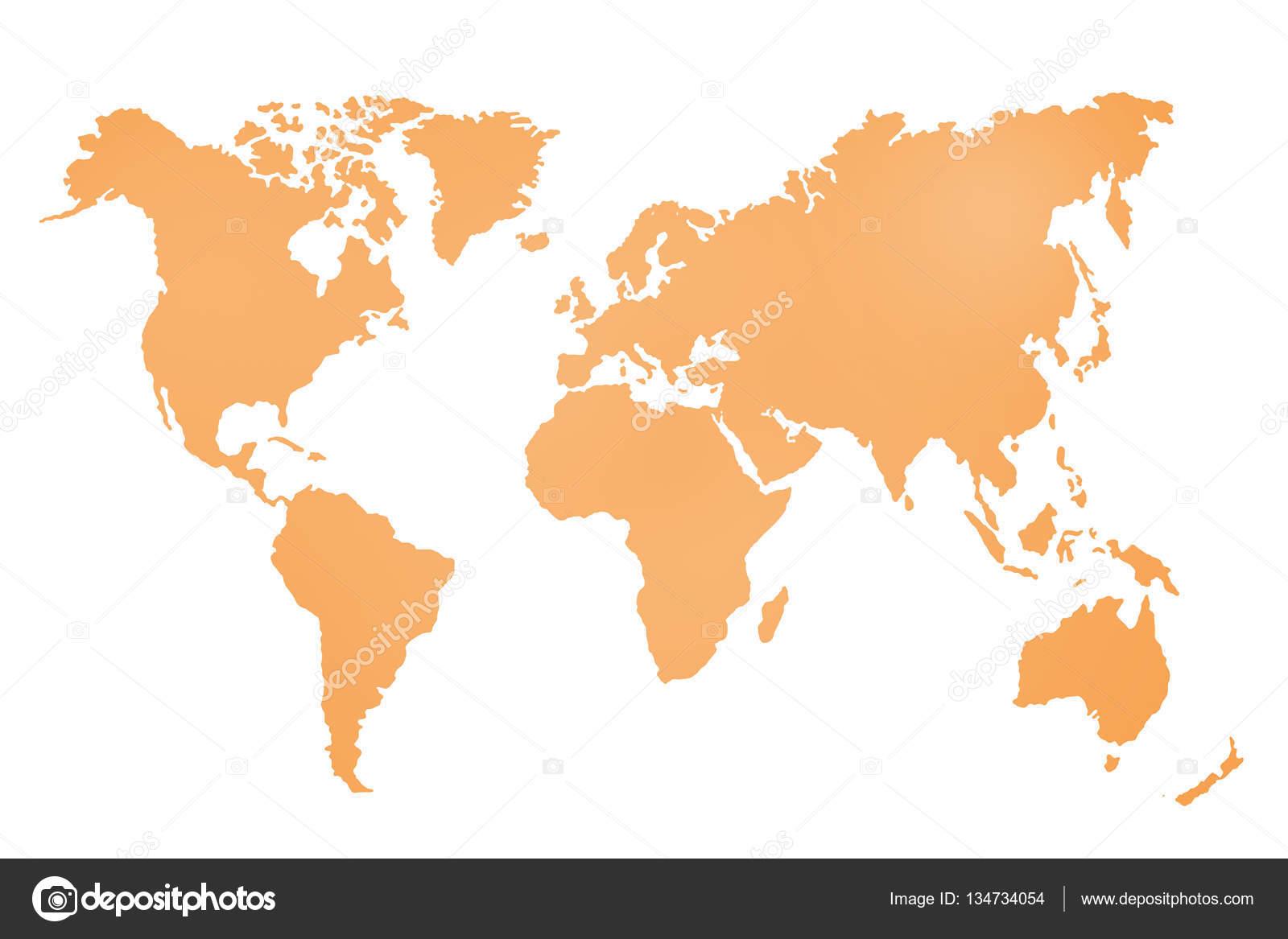 世界地図の抽象的なイラスト ストック写真 Tiagoz 134734054