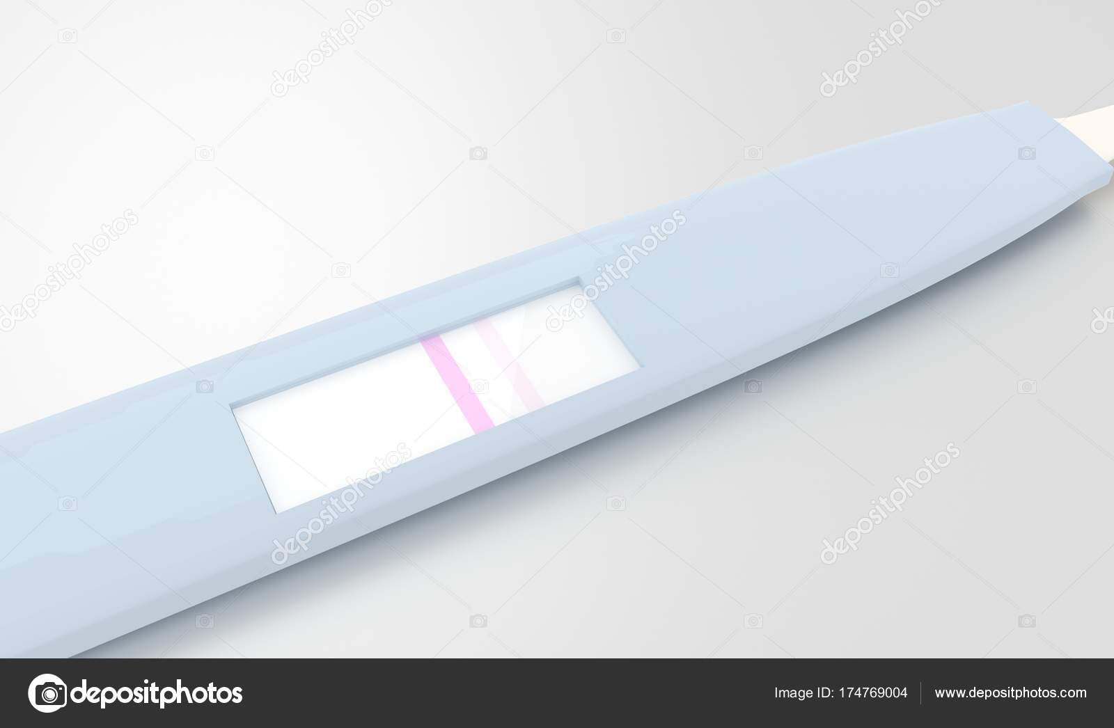Close Pregnancy Test Negative Result Stock Photo C Tiagoz 174769004