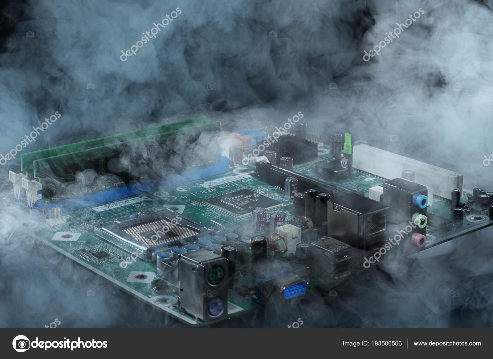 computer in smoke — Stock Photo © ALEXGRAF1954 #193506506