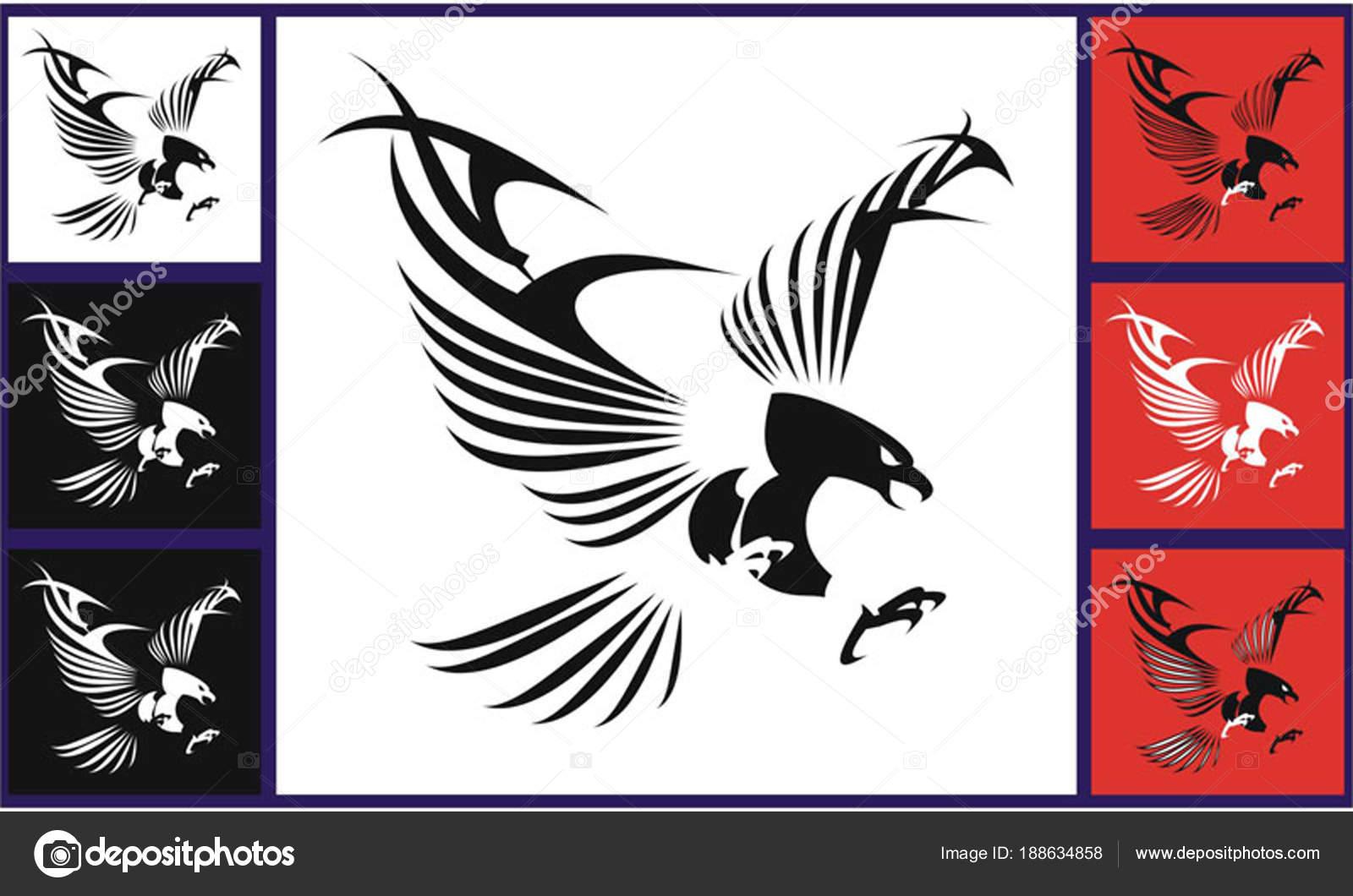 Tatuajes Tribales De Aguilas águila Vuelo De águilas Con Las Alas