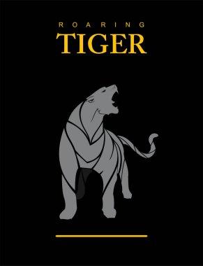 Fearless Tiger in Grey. puma. cougar.