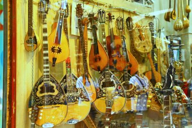 ATHENS, GREECE - 24 April 2015. The bouzouki is a Greek musical instrument.
