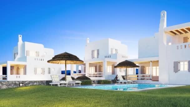 Arabisches Hotel. Private Villa. Traditionelle orientalische Architektur. Realistische Darstellung