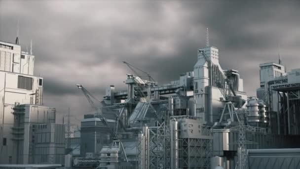 Průmyslová továrna. 3D vykreslení. Industrial