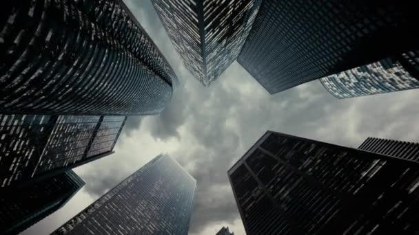 3d rendering of urban city skyscrapers