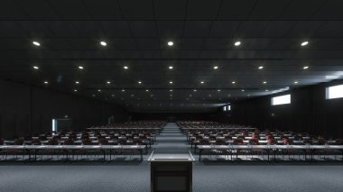Large conference room for presentations and lectures
