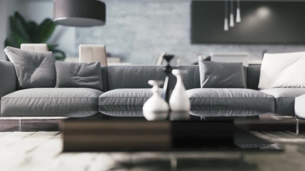 3d rendered footage of beautiful modern interior