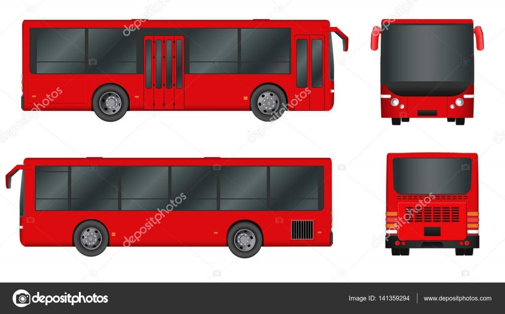 Red City Bus Vorlage. Personenverkehr. Vector Illustration Eps 10 ...
