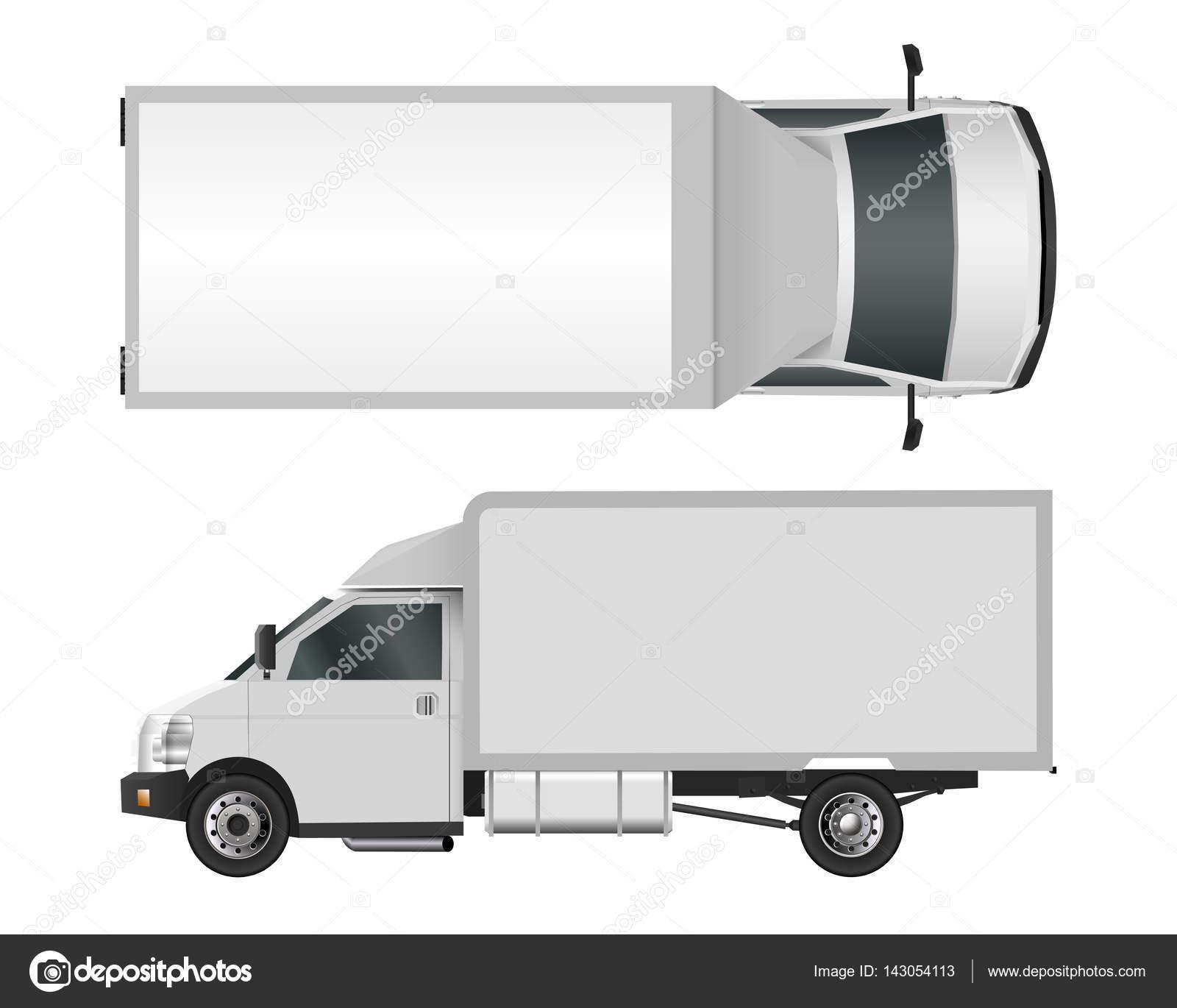 Plantilla de camión blanco. Cargo van Vector ilustración eps 10 ...