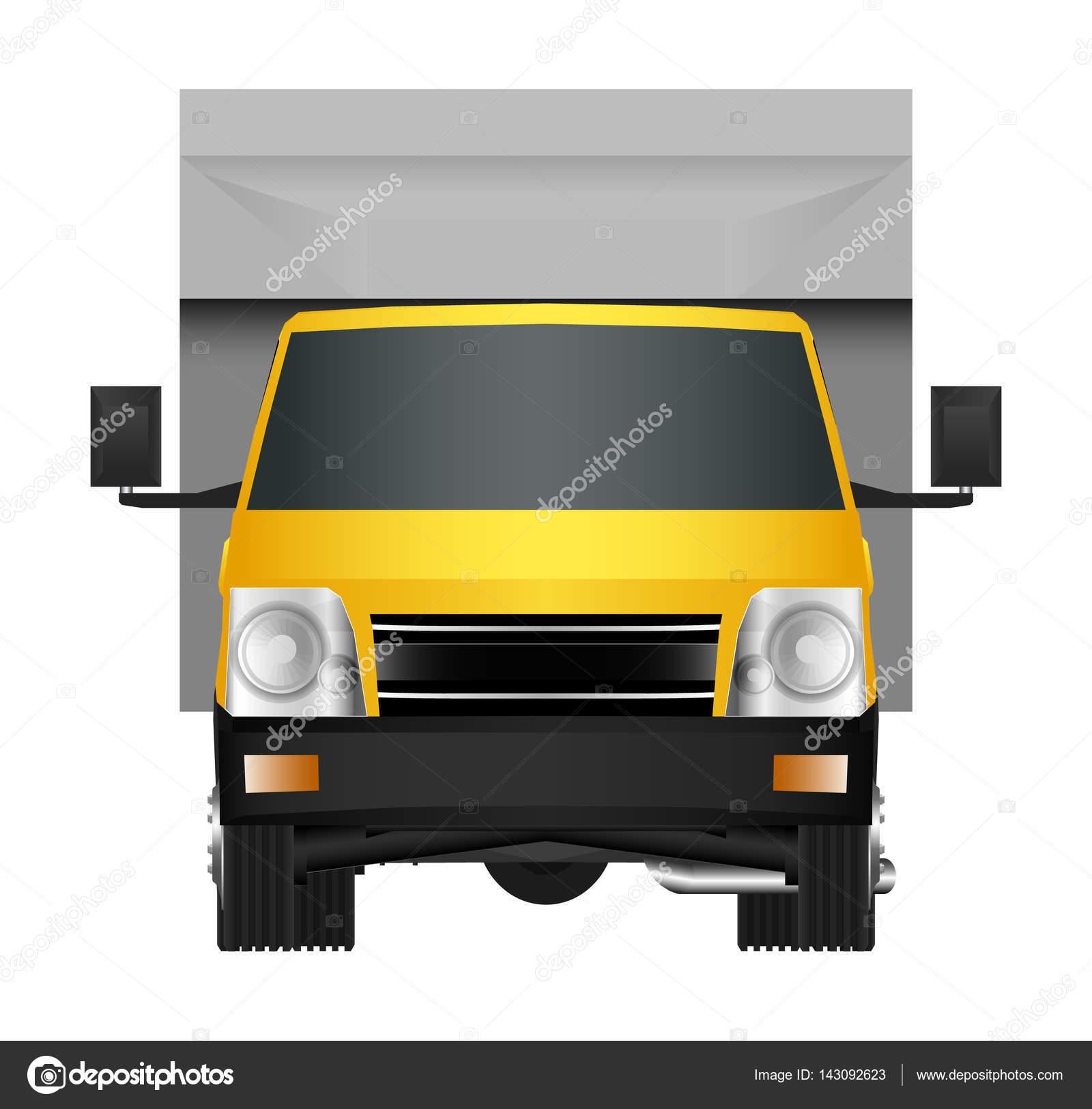 Gelben Truck Vorlage. Cargo van Vektor-Illustration isoliert Eps 10 ...