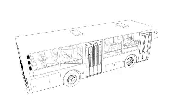 Malé polygonální 3d autobus.