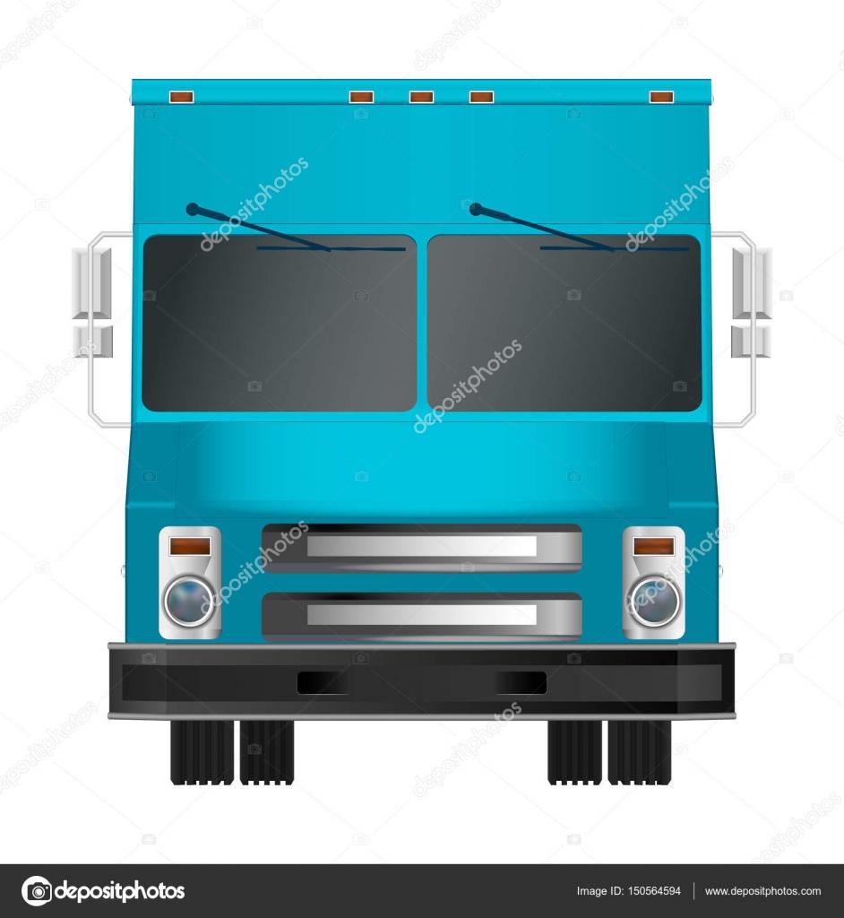 LKW-Vorlage. Cargo van Vektor-Illustration isoliert Eps 10 auf ...