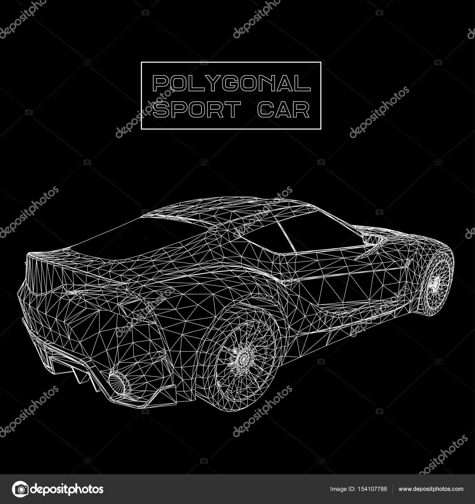 Abstract Creative Concept Vector Background Of 3d Car Model Sports