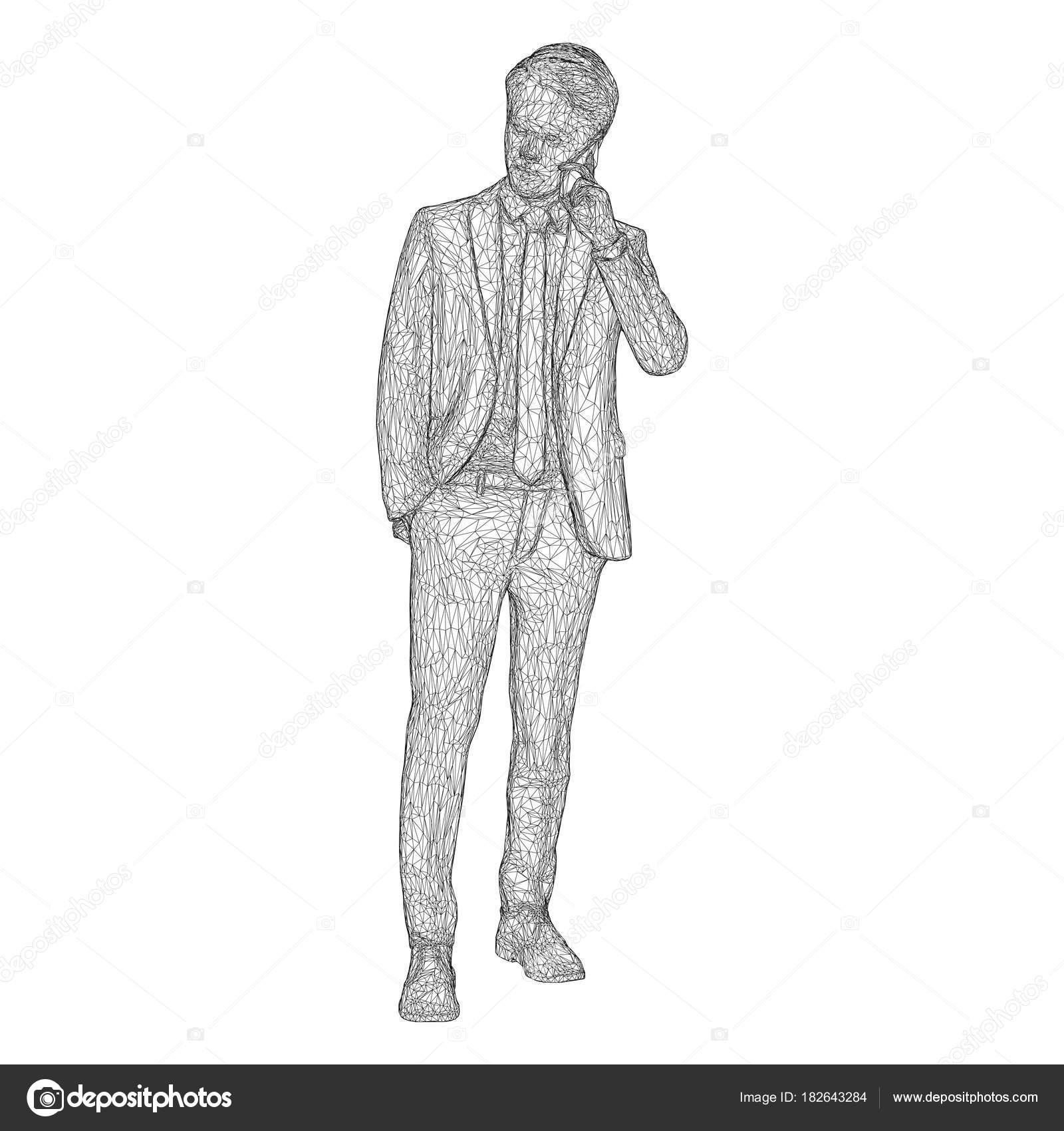 Biraz Başını Eğerek Erkek Işadamı Duran Ve Evet Bir Takım Elbise