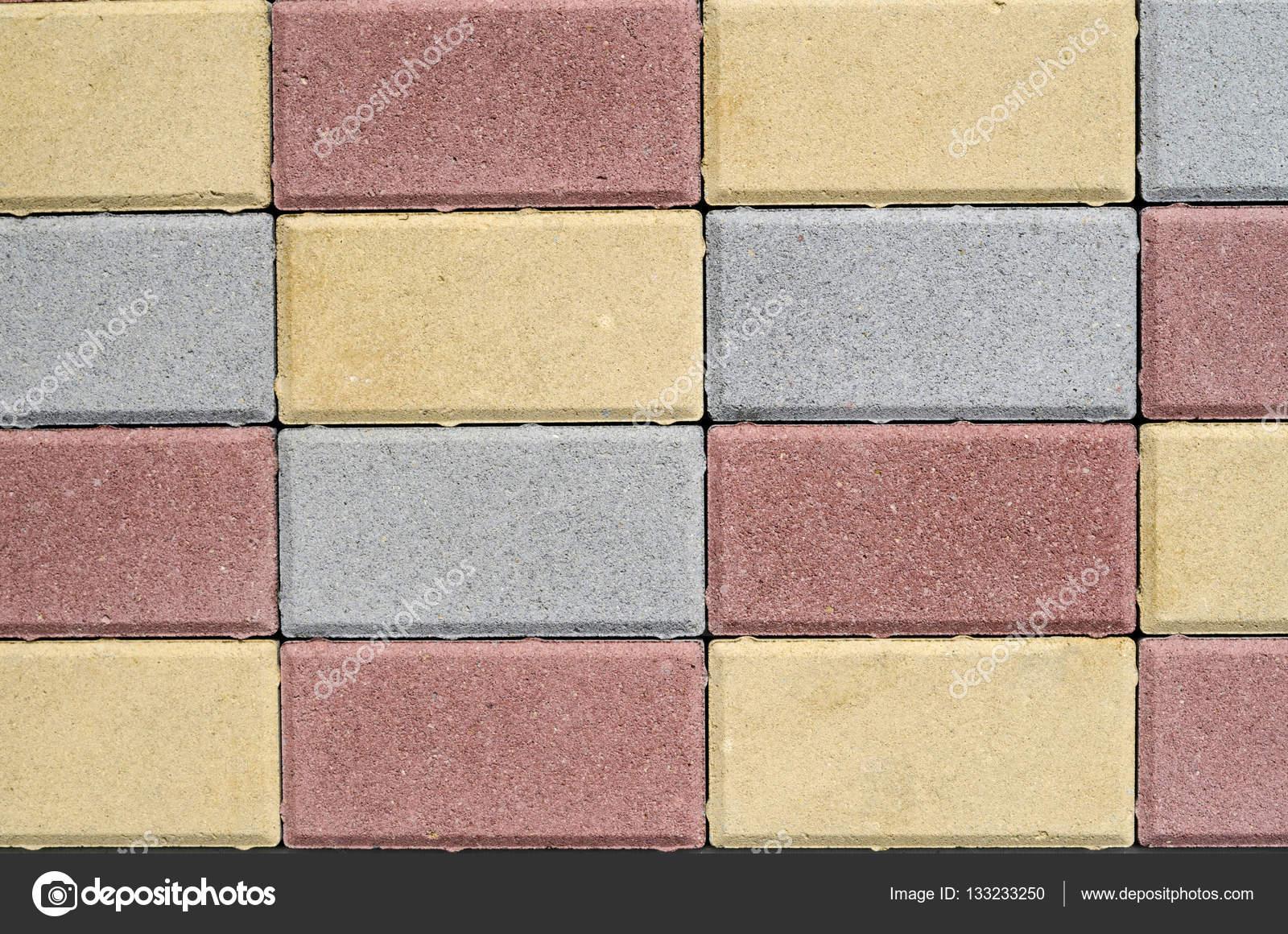 Piastrelle Di Cemento Colorato : Nuovi blocchi di cemento colorati per la pavimentazione delle