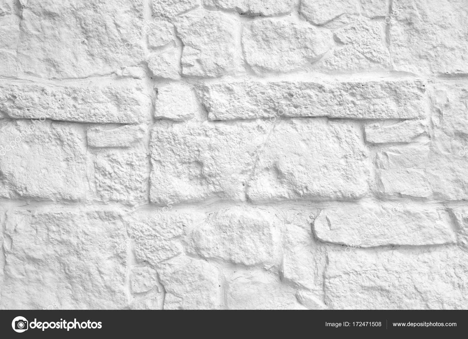 Stenen Muur Wit : Nieuwe wit geschilderd stenen muur closeup u stockfoto