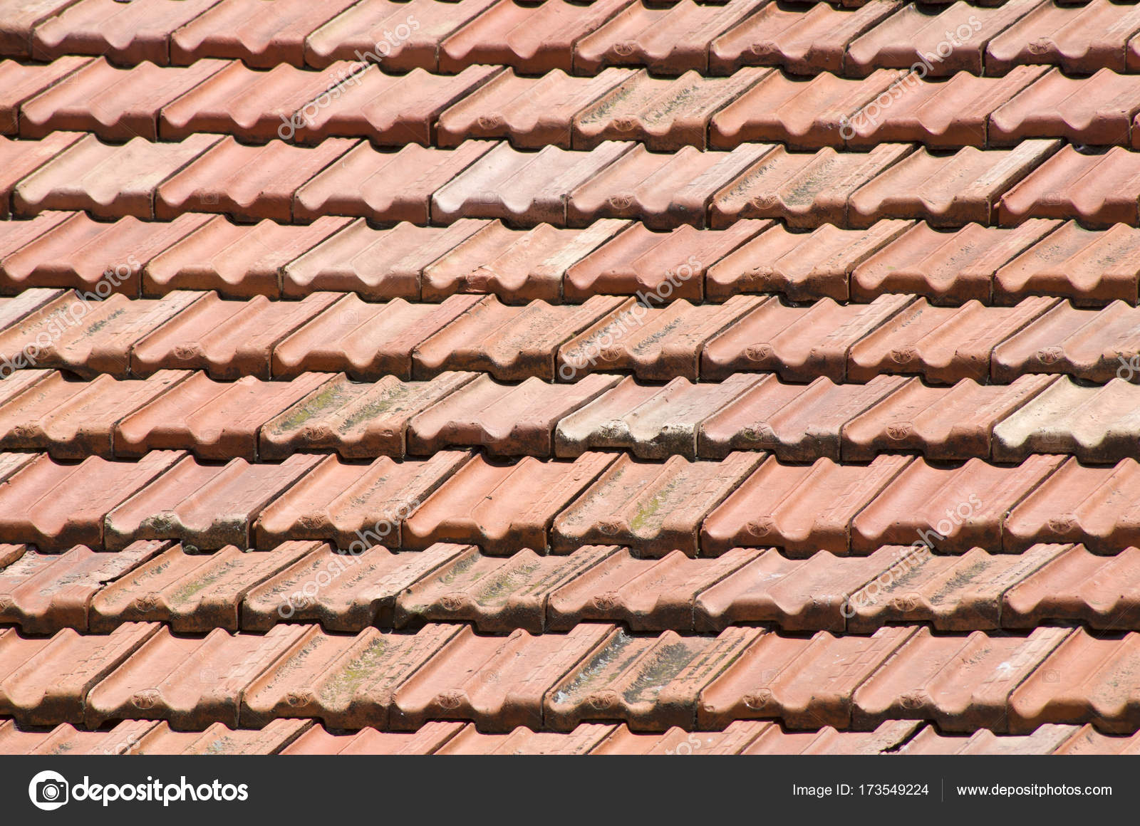 Old Roof With Ceramic Tiles Closeup Stock Photo Isabela1966